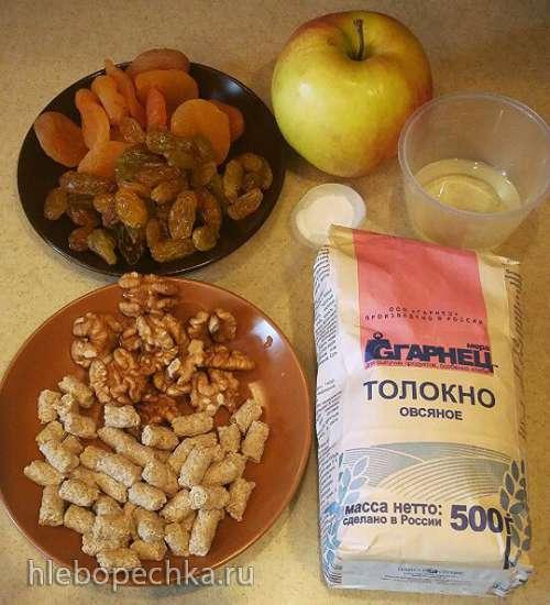 Чуррос орехово-апельсиновый с цукатами из сухофруктов (в Чурросмейкере Princess 132401)