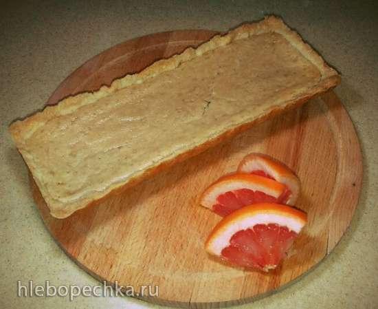 Песочный тарт с бананово-грейпфрутовой заливкой