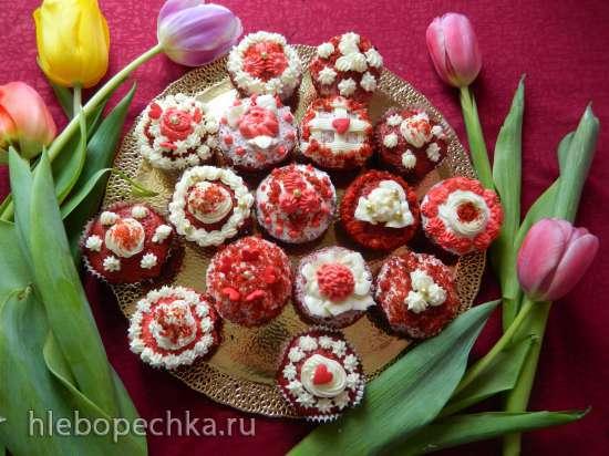 Капкейки «Красный Бархат» (Red Velvet Cupcakes)