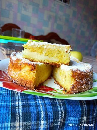 Тёртый пирог со сметаной