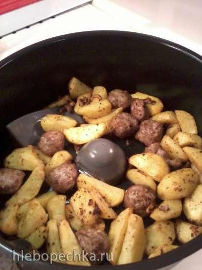 Картошка, печёная в сковороде, целая, в мундире