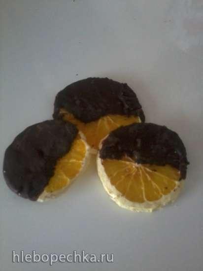 Чипсы из засахаренных лимонов и апельсинов