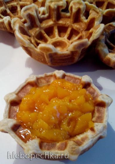 Тарталетки с персиковым наполнителем в тарталетнице Steba