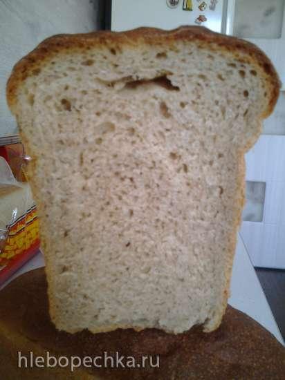 Пшенично-ржаной хлеб по-норвежски на закваске