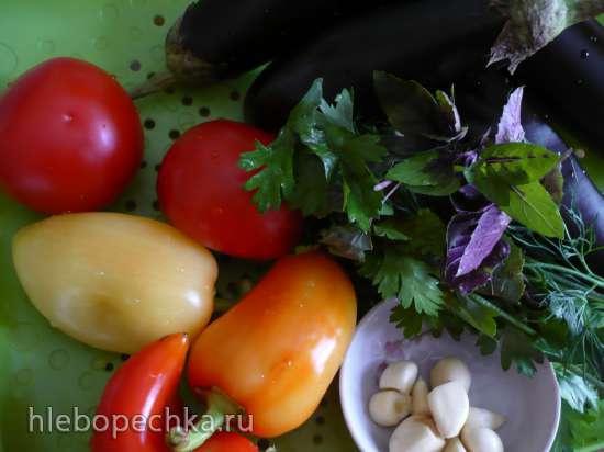 Жареные баклажаны под острым соусом