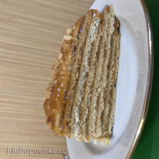 Торт медовик постный