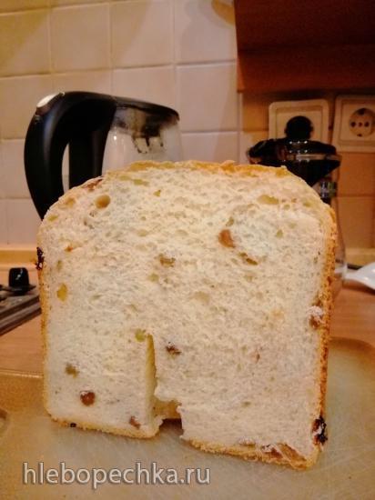 Panasonic SD-2501. Хлеб молочный с изюмом