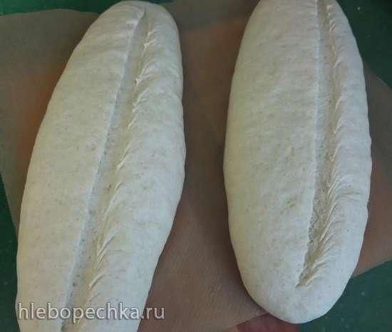 Хлеб домашний с цельнозерновой и кукурузной мукой