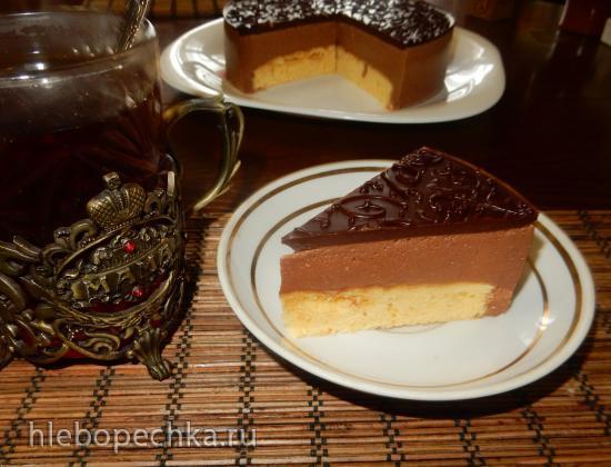 Торт Птичье молоко с шоколадом, на агар-агаре