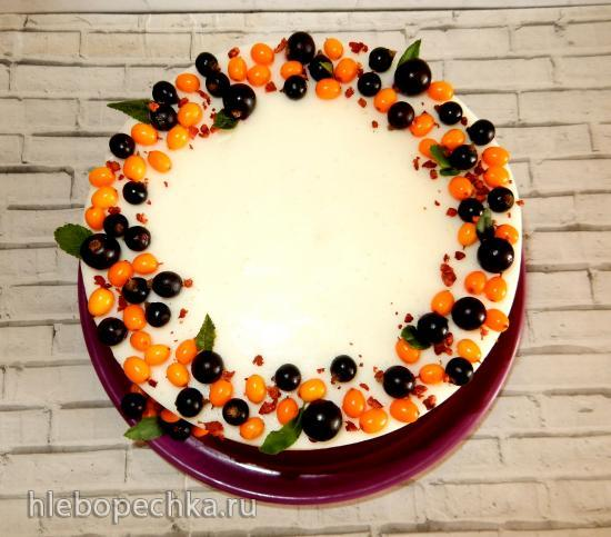 Торт-суфле «Летний» из взбитого желе