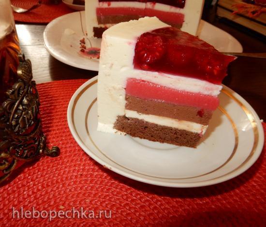 Муссовый торт Малиновое чудо