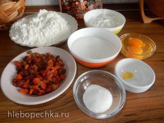 Пасхальный кулич с апельсиновым вкусом