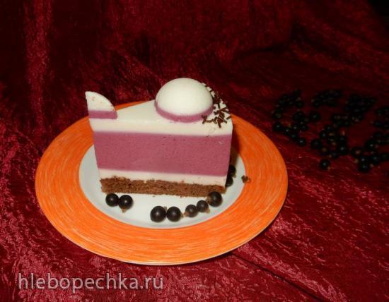 Торт муссовый с йогуртом Черная смородинка