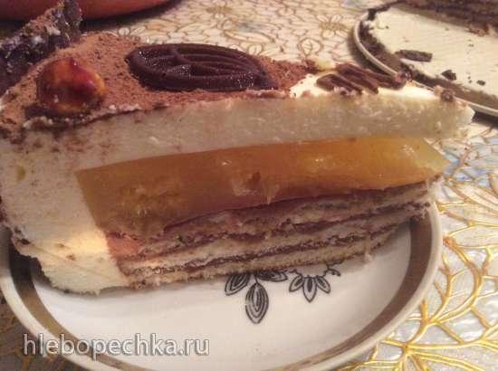 Торт медовый муссовый с соленой карамелью
