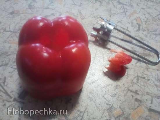 Украшение еды - цветы из овощей
