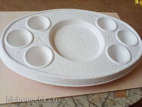 Декупаж для начинающих - пасхальная тарелка