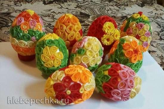Квиллинг для начинающих - пасхальные яйца