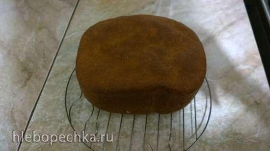 Пшенично-ржаной 50х50 хлеб на живых дрожжах (хлебопечка)