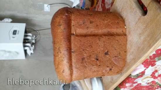 Panasonic SD-2501. Яичный хлеб с чесноком, сыром и зеленью