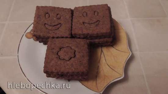 Крекеры ржаные с отрубями и кофе постные (печь Rommelsbacher BG 1650)