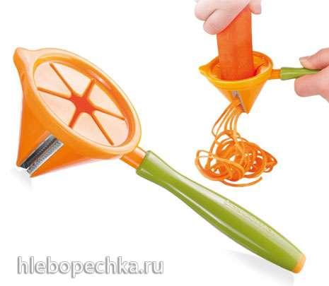 Спиральный измельчитель (слайсер, спиралайзер) для нарезки овощей и фруктов
