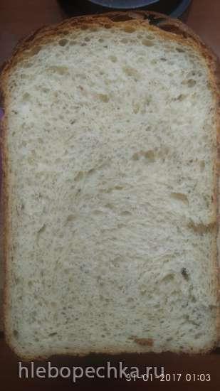 Panasonic 2502. Хлеб картофельный с сыром и свежим укропом
