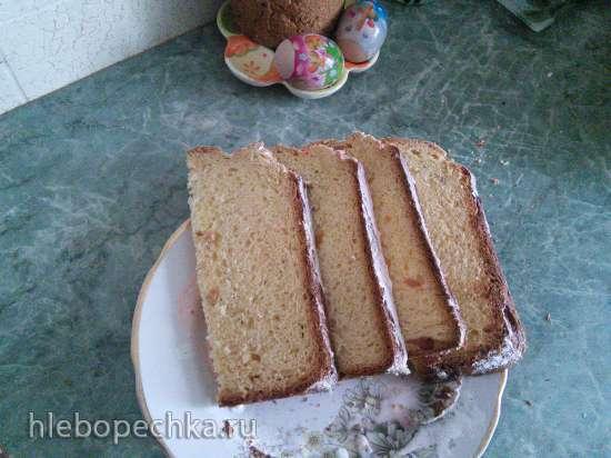 Кулич на скорую руку в хлебопечке (вариант 2)