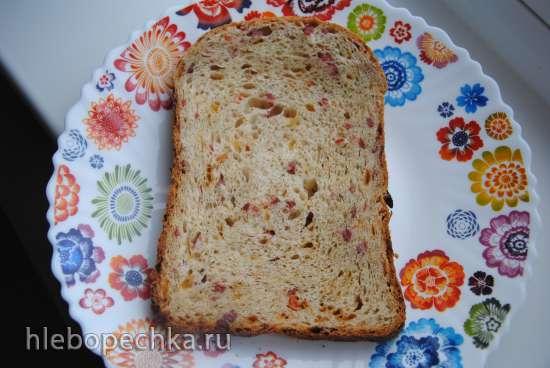 Хлеб Закусочный (с сыром, укропом и салями) (хлебопечка)