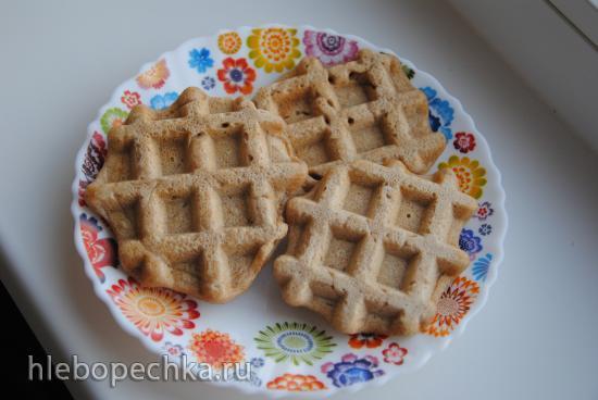 Несладкие вафли (вместо хлеба) из цельнозерновой и льняной муки
