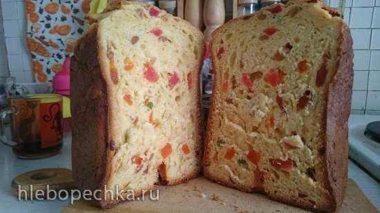 "Кулич из ""венского"" теста в хлебопечке"