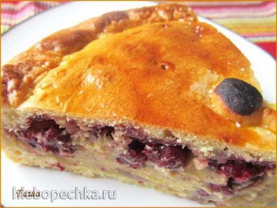 Пирог с вишней и заварным кремом  Баскский