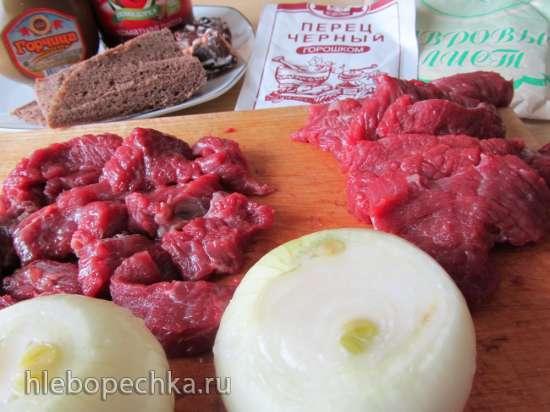 Эсик-флейш (кисло-сладкое мясо)