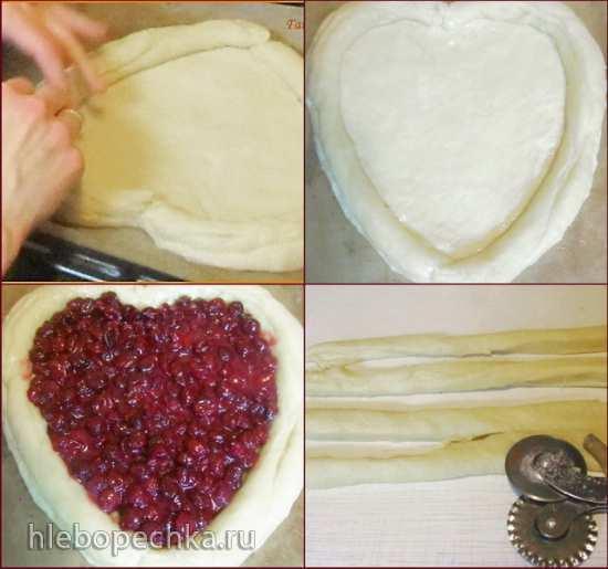 Пирог вишнёвый Влюблённое сердце