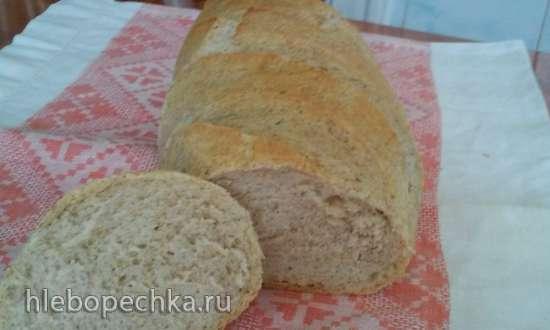 Пшеничный хлеб из теста холодной ферментации
