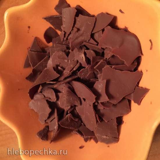 Мятное мороженое с шоколадными чипсами