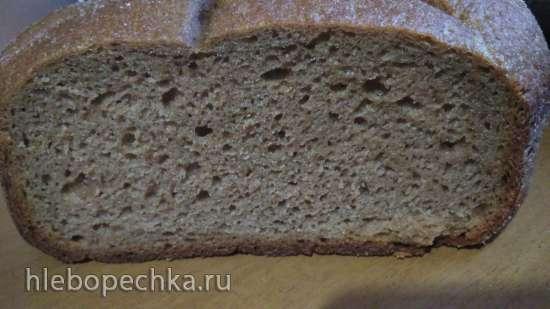 Ржаной на закваске в хлебопечке (ручной замес) - просто и быстро