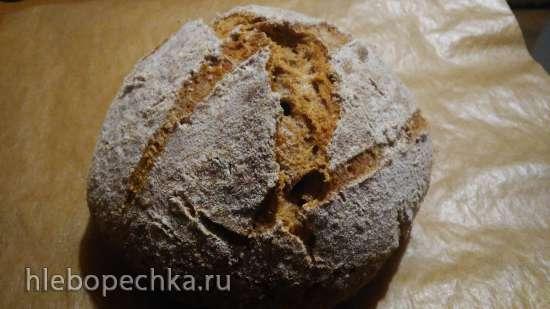 Бездрожжевой творожный хлеб из цельнозерновой муки