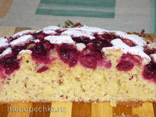 Вишневый пирог из журнала Burda