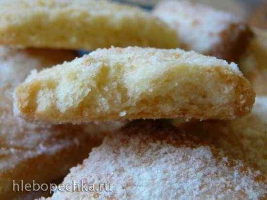 Язычки с кокосом (рассыпчатое курабье)