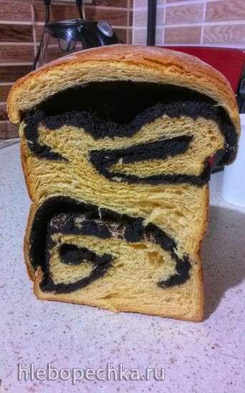 Сдобная тыквенно-маковая завитушка (хлебопечка)