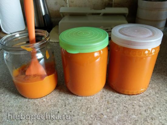 Морковно-яблочное пюре в блендере суповарке VES-SKA24