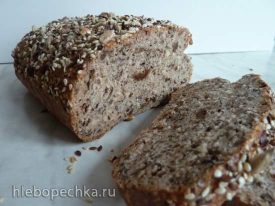 Цельнозерновой хлеб - пятиминутка, без замеса (Сюзанна Зайзл)