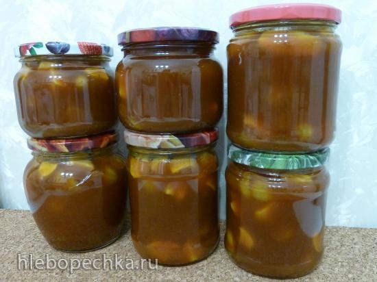 Виноградно-тыквенное варенье с яблоками
