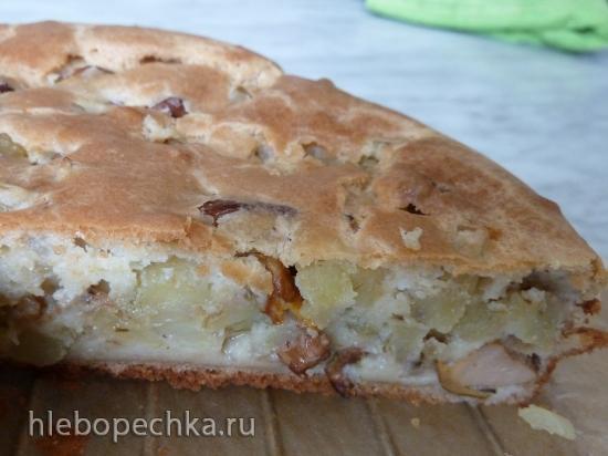 Пирог с лисичками и картошкой