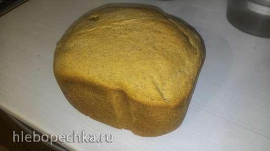 Пшенично-ржаной хлеб на кефире с заварным солодом