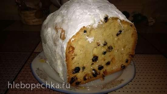 Кекс с изюмом на коньяке (хлебопечка Panasonic -2502)