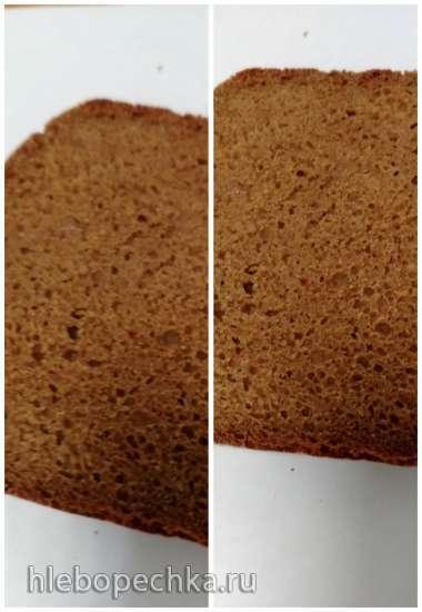 Хлеб ржано-пшеничный черный на закваске в хлебопечке Panasonic SD-2511WTS