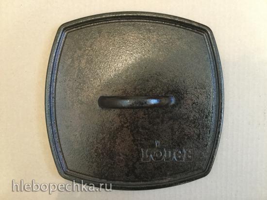 Продаю: Сковорода-гриль LODGE чугунная с прессом к ней. Made in USA.