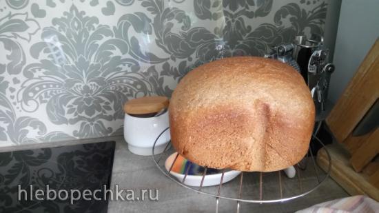 Ржано-пшеничный хлеб на пиве и сыворотке в хлебопечке Панасоник