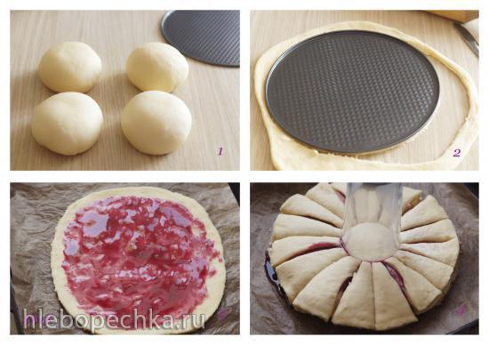Тесто дрожжевое сдобное для пирогов, булочек и плюшек
